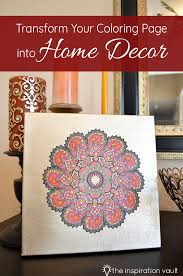 transform your coloring page into home decor the inspiration vault
