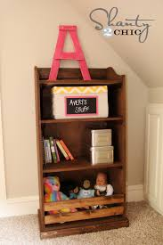 ana white kids storage bookshelf diy projects