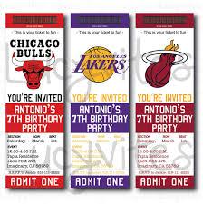 printable ticket stub invitation