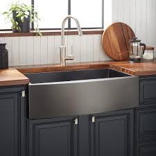 best kitchen sink for 30 inch base cabinet 30 atlas stainless steel farmhouse sink curved apron gunmetal black