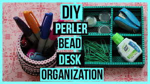 Cheap Desk Organizers by Diy Perler Bead Desk Organization Decor Youtube