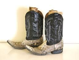 vtg 9 mens snakeskin mexican pointy toe cowboy boots fotofuze