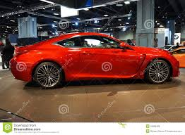 red lexus pretty red lexus rc f sports car editorial stock image image