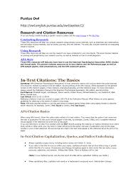 How To Write A Resume Cover Letter Sample by Purdue Owl Cover Letter