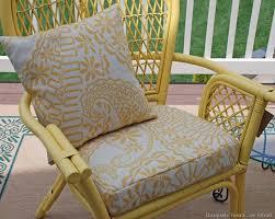 cheery yellow rattan chairs
