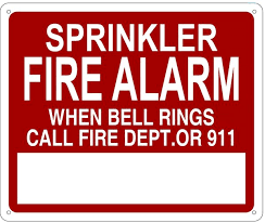 rings bells images Sprinkler fire alarm when bells ring call fire dept or 911 sign