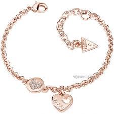 gold guess bracelet images Ladies guess rose gold plated heart devotion bracelet ubb l p jpg