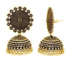 gold jhumka earrings design jojo fashion jewelry women earring indian style gold jhumka