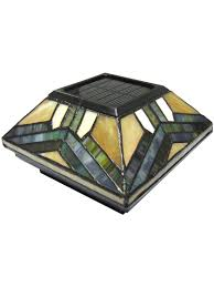 Solar Lights On Fence Posts by Stained Glass Solar Post Cap Lights 4x4 Or 5x5 Solar Post Cap