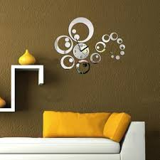 Home Decoration Wall Stickers Acrylic 3d Diy Home Decoration Fashion Mirror Surface Circle Wall