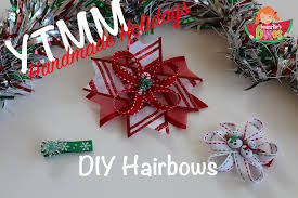 christmas hair bows ytmm holidays diy christmas hair bows
