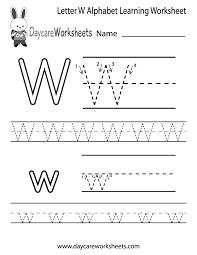 Worksheets For Kindergarten Printable Letter W Worksheets For Preschool Kindergarten Printable