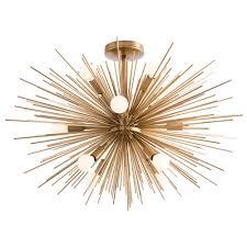 Vintage Sputnik Light Fixture Home Lighting Starburst Light Fixture Starburst Light Fixture