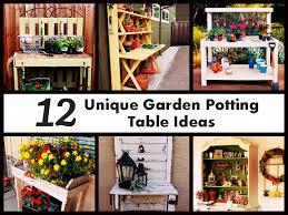 Garden Potting Bench Ideas Unique Garden Potting Table Ideas