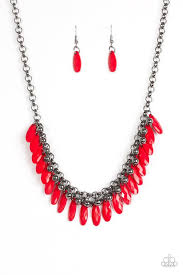 red necklace accessories images Paparazzi accessories jersey shore red necklace sets free jpg