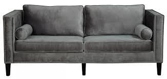 Armen Living 844 Barrister Sofa by Furniture Cool Velvet Couch To Adorn Modern Living Room