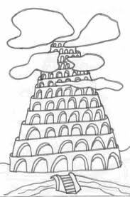 tower of babel coloring page inside eson me