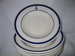 homer laughlin china virginia 6 set of us navy fouled anchor bowls homer laughlin china