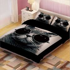 online shop black and white cat print bedding sets twin queen king