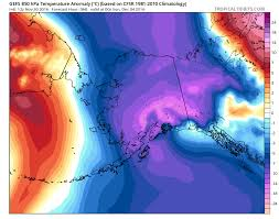 Alaska On Map 1 40 Pm Widespread Blast Of Cold Air Plunges From Alaska To