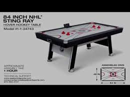 84 air hockey table sting ray hover hockey table assembly video youtube
