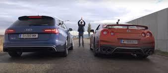 nissan gtr vs 2017 nissan gt r vs audi rs6 performance road drag race is