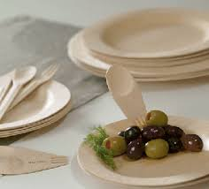 bamboo plates wedding disposable plates wooden cutlery cherry