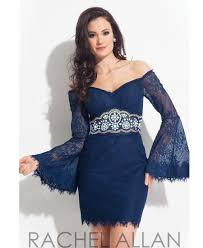 beads elegant lace color navy blue cocktail dresses with long