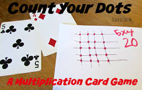 count your dots multiplication card game teach beside me