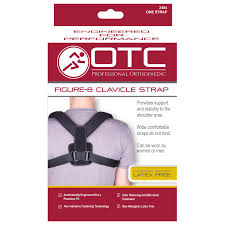 otc select series figure 8 clavicle strap black large walmart com