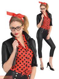 ladies rockin rebel costume womens 50s 60s rock n roll fancy