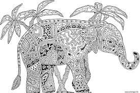coloriage adulte animaux elephant difficile jecolorie com