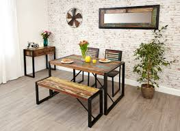 buy baumhaus urban chic small dining set with 2 chairs and bench