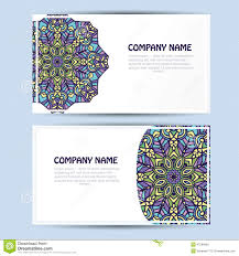 Corporate Invitation Card Business And Invitation Card With Lace Ornament Vector Background