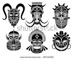 illustration ornamental elementafrican mask stock