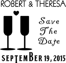 Save The Date Stamp Heart Wine Glass Save The Date Custom Stamp Simply Stamps