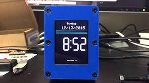 arduino gps nightstand clock youtube
