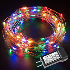 le 33ft 100 led string lights multicolor