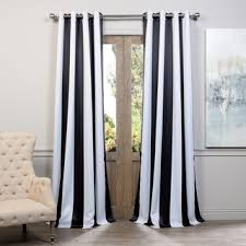 Black And White Blackout Curtains Exclusive Fabrics Black And White Vertical Striped Blackout
