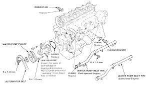 1989 honda accord engine 1989 honda accord 2 0l 2bl sohc 4cyl water replacement honda