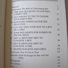 the preconception gender diet r n sally langendoen william