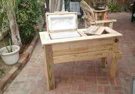 Build Wooden Patio Table by Build A Pallet Cooler Full Tutorial