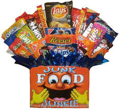 junk food gift baskets item description invigorating junk food gift basket madness pail