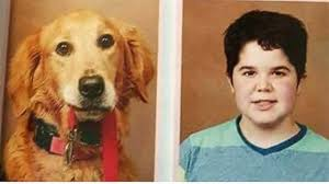middle school yearbook service dog gets photo in middle school yearbook alongside owner