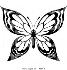 royalty free clip vector black and white butterfly with