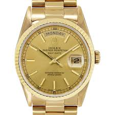 golden rolex rolex boca raton presidential day date gold stick dial watch