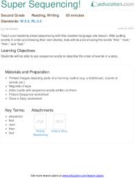 super sequencing lesson plan education com