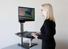 Rolling Stand Up Desk Table Glamorous Ergonomic Height Adjustable Computer Standing Desk