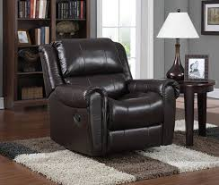 amazon com pulaski leather rocker recliner 36 inch chocolate lv