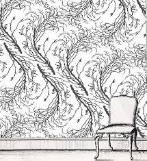 min hogg papers u0026 fabrics sea fern large charcoal on white